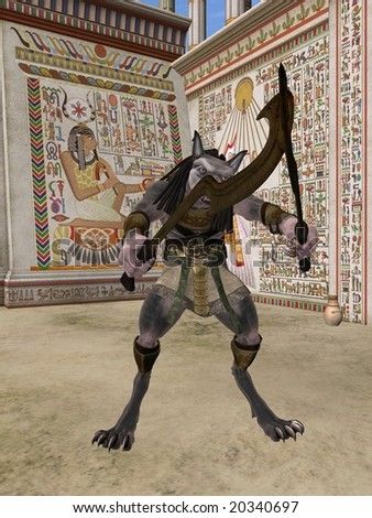 Anubis-Fantasy Egyptian Monster
