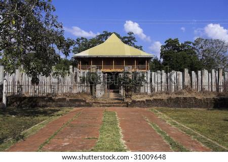 Anuradhapura - view of Brazen Palace - stock photo