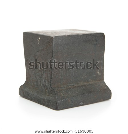 Anvil isolated on white - stock photo