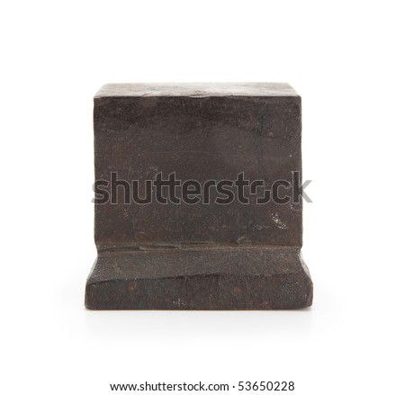 Anvil Isolated on white. - stock photo