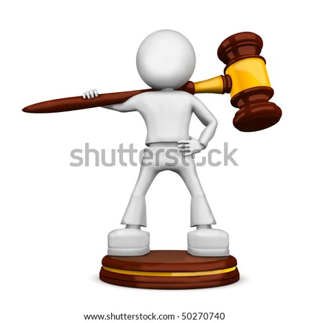 Anvil of the justice. 3d image isolated on white background. - stock photo