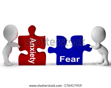 Anxiety Fear Puzzle  - stock photo