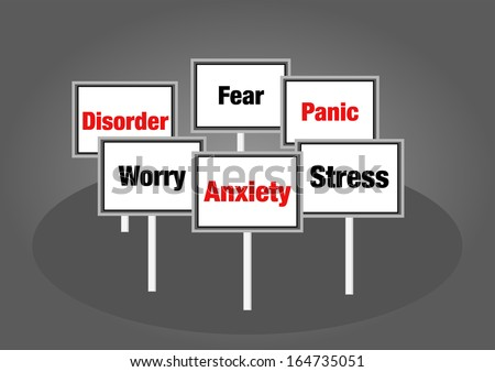 Anxiety signs - stock photo