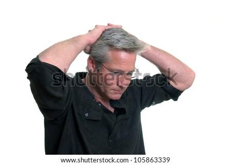 Anxious Man - stock photo