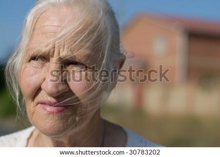 Anxious woman - stock photo