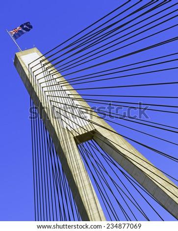ANZAC Bridge, Sydney, Australia - stock photo