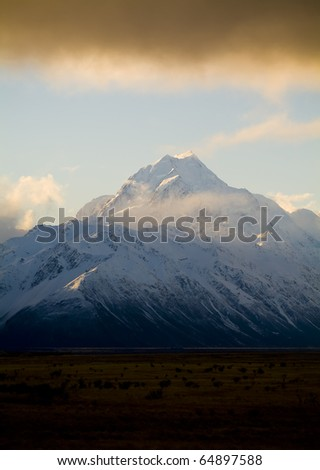 Aoraki / Mt Cook National Park, New Zealand. The highest peak in Australasia is Mt Cook, at 3755m.