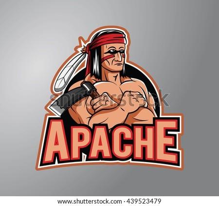 Apache design vector illustration - stock photo
