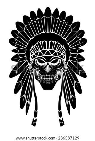 Apache Head - stock photo
