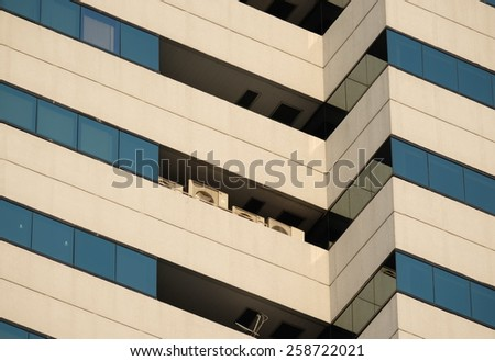apart of huge building - stock photo