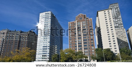Apartaments along Lake Shore Drive - Chicago, IL. - stock photo