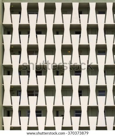 Apartment Balconies - stock photo