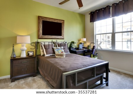 Apartment Bed Room - stock photo