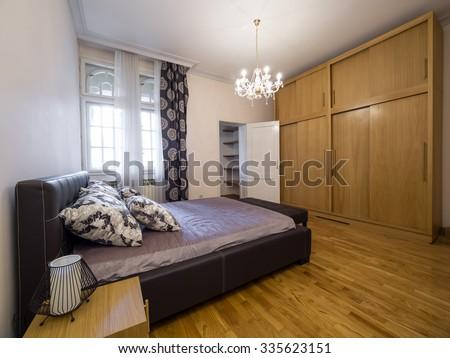 Apartment bedroom - stock photo