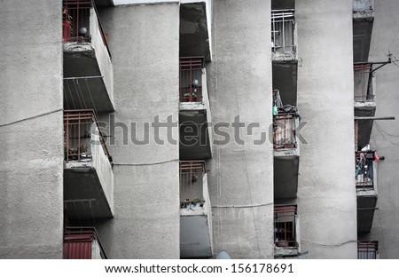 Apartment Block building in Sofia, Bulgaria - stock photo