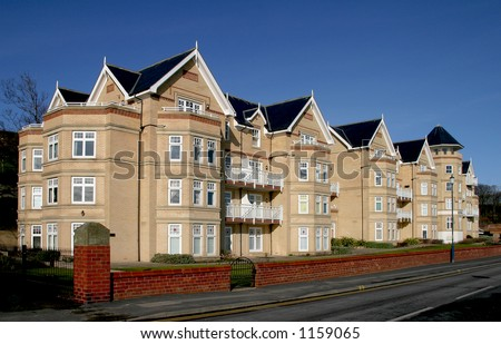 Apartment block in Filey, North Yorkshire, UK
