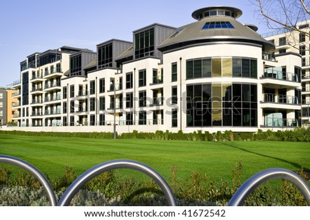 Apartment Block Modern apartments building. - stock photo