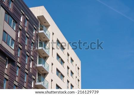 Apartment blocks - stock photo