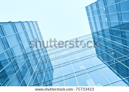 apartment blocks of modern skyscrapers - stock photo