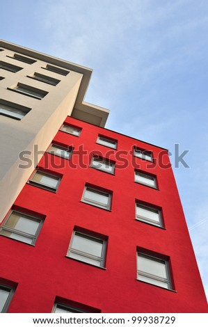 Apartment building, block of flats - stock photo