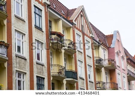 Apartment building in Hamburg, Germany - stock photo
