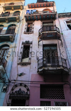 Apartment Building in Havana Cuba