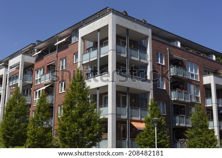Apartment building in Kiel,Germany - stock photo