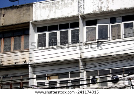 Apartment building in Thailand - stock photo