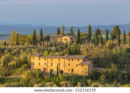 Apartment building in the Tuscan countryside