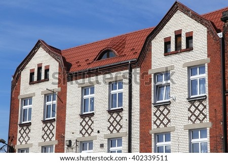 Apartment building - old house in Piekary Slaskie, Poland.