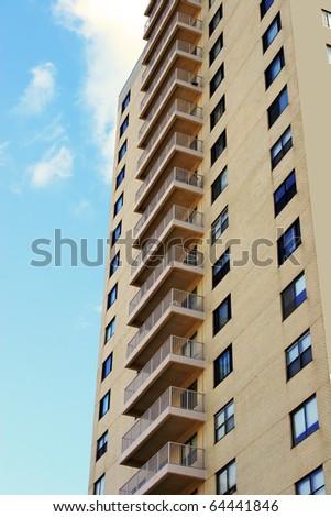 Apartment building terrace - stock photo