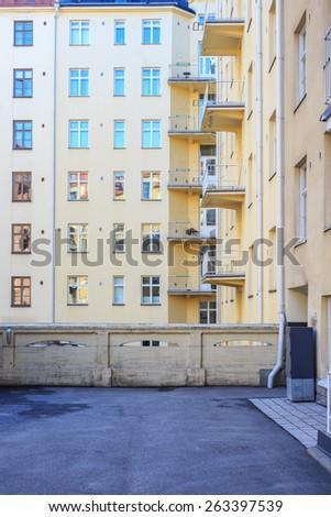 Apartment buildings - stock photo