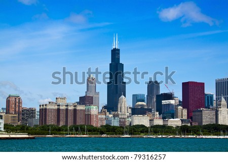 Apartment Buildings at city downtown - stock photo