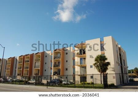 Apartment Buildings in Little Havana, Miami Florida - stock photo