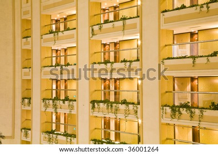 Apartment buildings in the city - stock photo