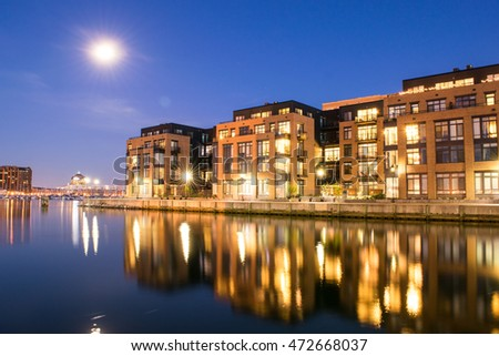Apartment Buildings In The Inner Harbor Area In Baltimore, Maryland