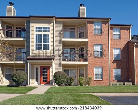 Apartment Complex - stock photo