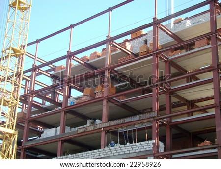 apartment construction - stock photo
