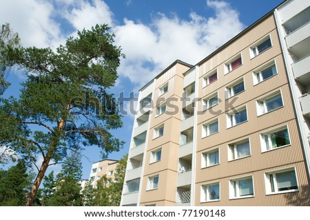 Apartment houses - stock photo