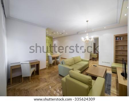 Apartment living room - stock photo