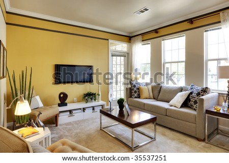 Apartment Living Room - stock photo