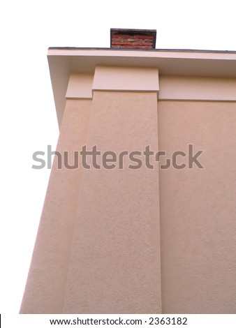 apartment outside view with chimney - detail