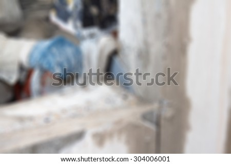Apartment renovation theme creative abstract blur background with bokeh effect