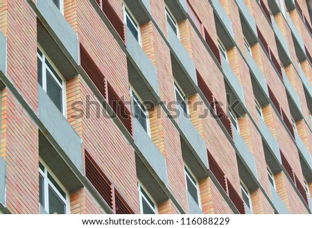 apartment windows pattern and design - stock photo