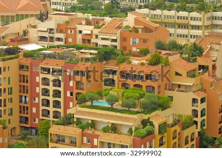 Apartments in Monaco - stock photo