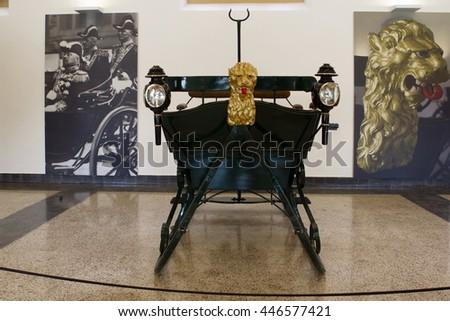 Apeldoorn, Netherlands, June 30, 2016: Car Chase royal palace Het Loo in Apeldoorn, Netherlands - stock photo