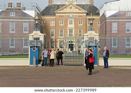 Apeldoorn, Netherlands - October 31, 2014: entrance to Het Loo Palace in Apeldoorn.  - stock photo