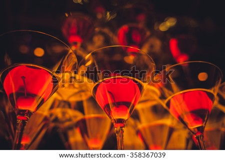 aperitif cocktail at the bar. night life - stock photo