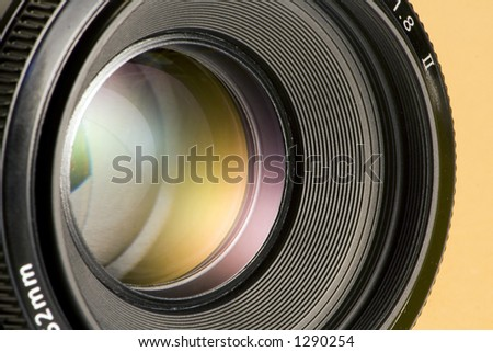 Aperture of camera lens - stock photo