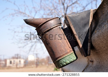 Apiary. Beekeeper equipment - stock photo